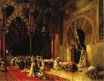 Edwin Lord Weeks - Bilder Gemälde - Interior of the Mosque at Cordova