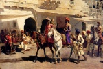 Edwin Lord Weeks - Bilder Gemälde - Leaving for the Hunt at Gwalior