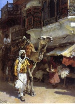 Edwin Lord Weeks - paintings - Man Leading a Camel