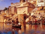 Edwin Lord Weeks - Bilder Gemälde - On the River Benares