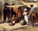 Edwin Lord Weeks - Bilder Gemälde - Outside an Indian Dye House