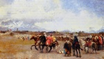 Edwin Lord Weeks - Bilder Gemälde - Powder Play City of Morocco Outside the Walls