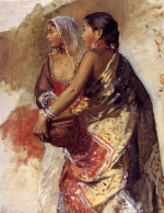Edwin Lord Weeks - Bilder Gemälde - Two Nautch Girls