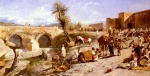 Edwin Lord Weeks  - Bilder Gemälde - The Arrival of a Caravan Outside Marakesh
