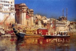 Edwin Lord Weeks  - Bilder Gemälde - The Barge of the Maharaja of Benares