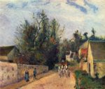 Camille  Pissarro - paintings - Postkutsche nach Ennery