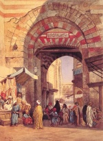 Edwin Lord Weeks  - Bilder Gemälde - The Moorish Bazaar