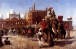 Edwin Lord Weeks  - Bilder Gemälde - The Return of the Imperial Court from the Great Mosque at Delhi