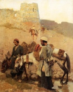 Edwin Lord Weeks  - Bilder Gemälde - Traveling in Persia