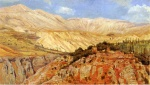 Edwin Lord Weeks  - Bilder Gemälde - Village in Atlas Mountains Morocco