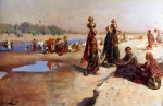 Edwin Lord Weeks  - Bilder Gemälde - Water Carriers of the Ganges