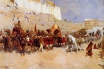 Edwin Lord Weeks  - Bilder Gemälde - Wedding Procession Jodhpur