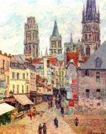 Camille  Pissarro - paintings - Rouen