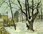 Camille  Pissarro - paintings - Schnee in Louveciennes