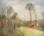 Camille  Pissarro - paintings - Strasse