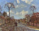 Camille  Pissarro  - paintings - The Road to Louveciennes