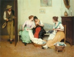 Eugene de Blaas - Bilder Gemälde - The Friendly Gossips