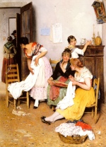 Eugene de Blaas - Bilder Gemälde - The New Suitor