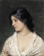 Eugene de Blaas - Bilder Gemälde - The Pearl Necklace