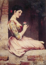 Eugene de Blaas - Bilder Gemälde - The Rose