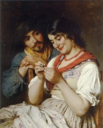 Eugene de Blaas - Bilder Gemälde - The Seamstress