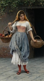 Eugene de Blaas  - Bilder Gemälde - Which Came First
