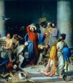 Carl Heinrich Bloch - paintings - Casting out the Money Changers