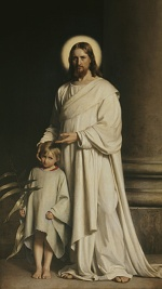 Carl Heinrich Bloch - paintings - Christ and Boy