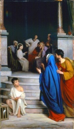 Carl Heinrich Bloch - paintings - Christ Teaching at the Temple