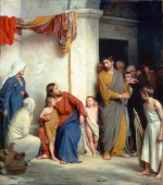 Carl Heinrich Bloch - paintings - Christ with Children