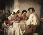 Carl Heinrich Bloch - paintings - Osteria