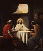 Carl Heinrich Bloch - paintings - Supper at Emmaus