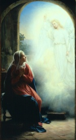 Carl Heinrich Bloch - paintings - The Annunciation