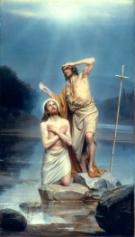 Carl Heinrich Bloch - paintings - The Baptism of Christ
