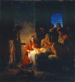 Carl Heinrich Bloch - paintings - The Birth of Christ