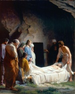 Carl Heinrich Bloch - paintings - The Burial of Christ