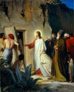 Carl Heinrich Bloch - paintings - The Raising of Lazarus