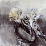 Giovanni Boldini - paintings - A Lady with a Cat