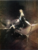 Giovanni Boldini - paintings - Consuelo Duchess of Marlborough with her Son Ivor Spencer Churchill