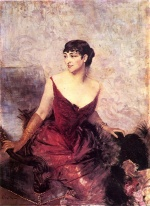 Giovanni Boldini - paintings - Countess de Rasty Seated in an Armchair