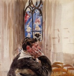 Giovanni Boldini - paintings - Portrait of a Man in Church