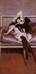 Giovanni Boldini - paintings - Portrait of Giovinetta Errazuriz
