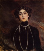 Giovanni Boldini - paintings - Portrait of Lina Cavalieri