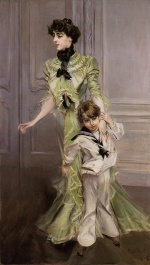 Giovanni Boldini - paintings - Portrait of Madame Georges Hugo and her Son Jean