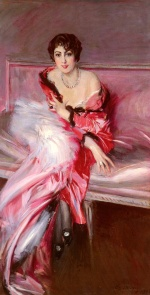Giovanni Boldini - paintings - Portrait of Madame Juillard in Red
