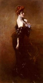 Giovanni Boldini - paintings - Portrait of Madame Pages in Evening Dress