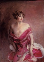 Giovanni Boldini - paintings - Portrait of Mademoiselle de Gillespie La Dame de Biarritz
