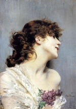 Giovanni Boldini - paintings - Profile of a Young Woman