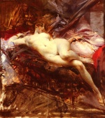 Giovanni Boldini - paintings - Reclining Nude