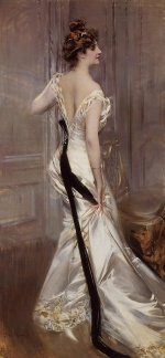 Giovanni Boldini  - Bilder Gemälde - The Black Sash